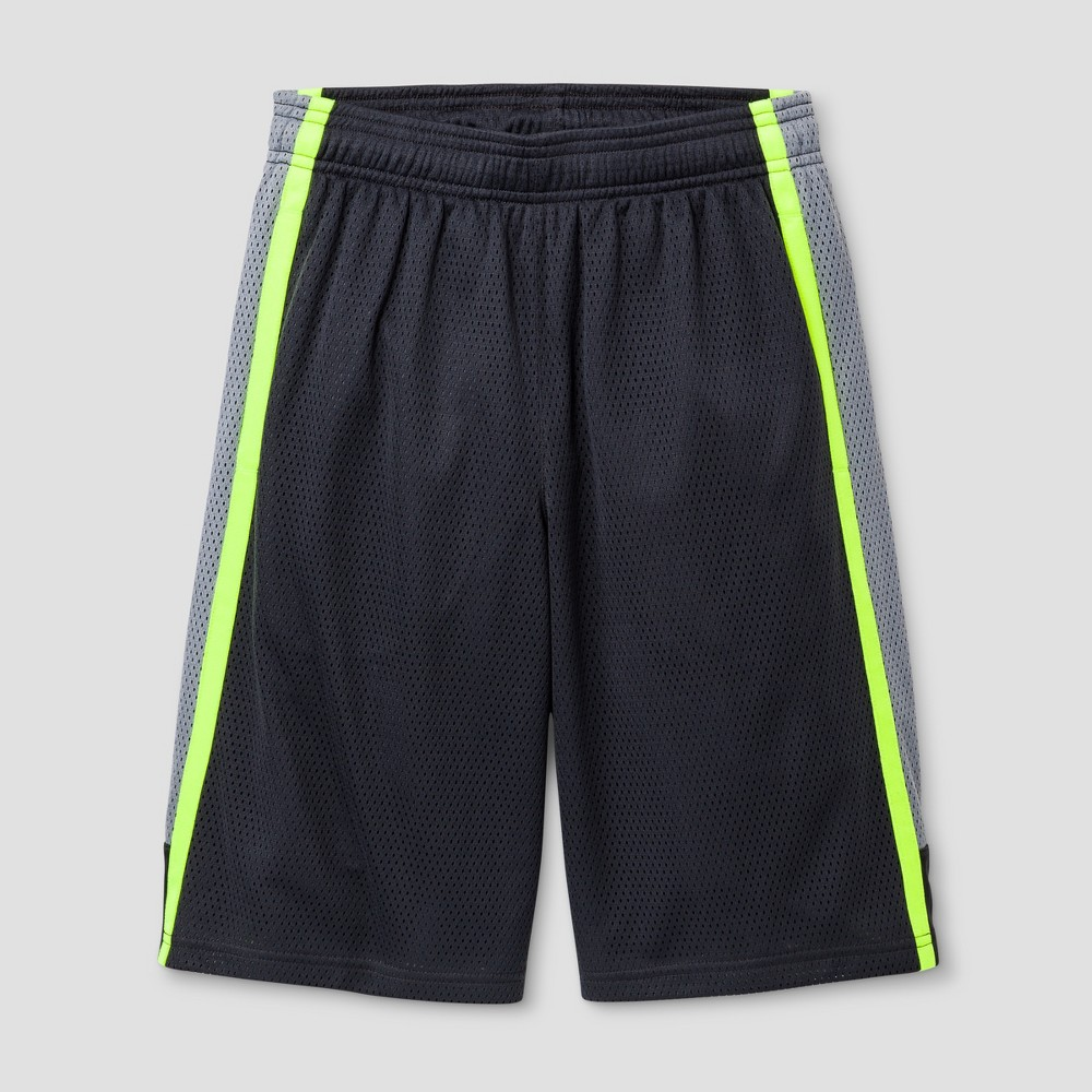 Boys 2-in-1 Basketball Shorts - C9 Champion Highlighter Yellow M, Dark Gray