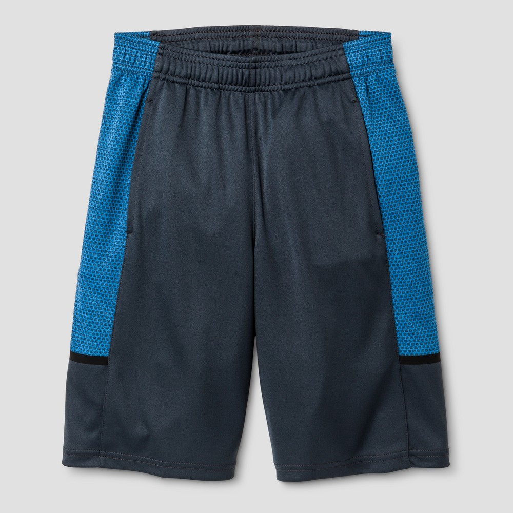 Boys Novelty Training Shorts - C9 Champion Polar Sky Blue L, Dark Gray