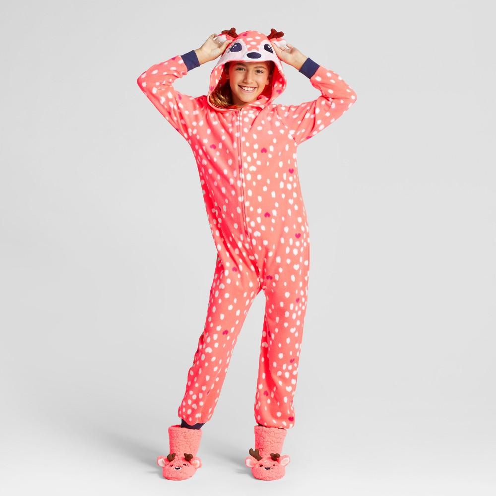Girls Deer Hooded Blanket Sleeper - Cat & Jack Orange L