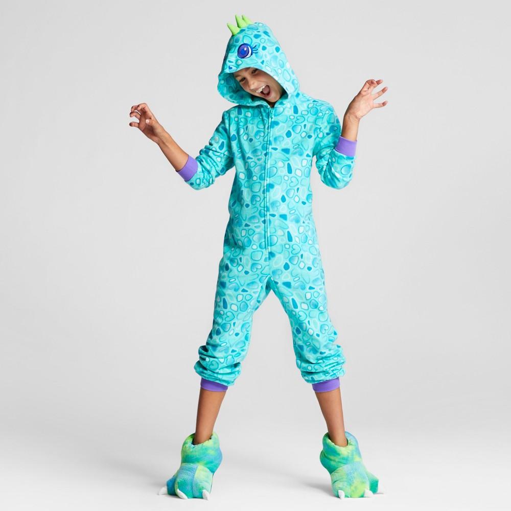 Girls Dino Hooded Blanket Sleeper - Cat & Jack Aqua M, Blue