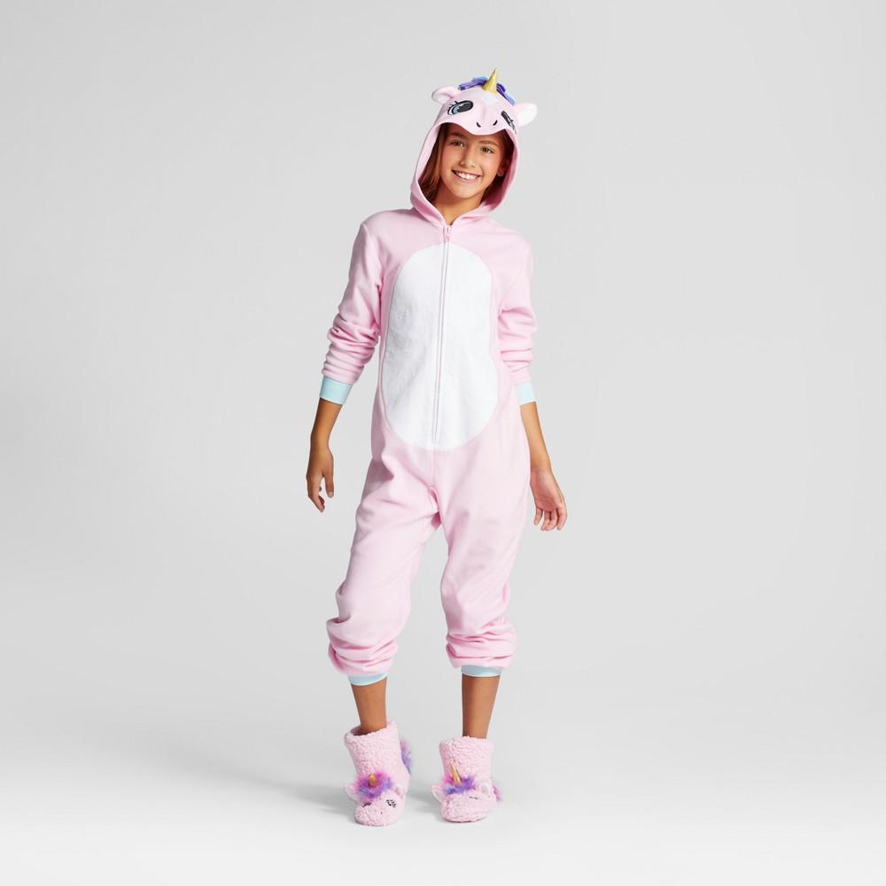 Girls Unicorn Hooded Blanket Sleeper - Cat & Jack Pink XS