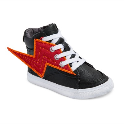 Toddler Boys' Odis Winged High Top Sneakers Cat & Jack™ - Black 6
