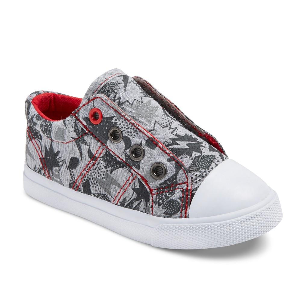 Toddler Boys Helmer Laceless Cap Toe Sneakers Cat & Jack - Gray 10