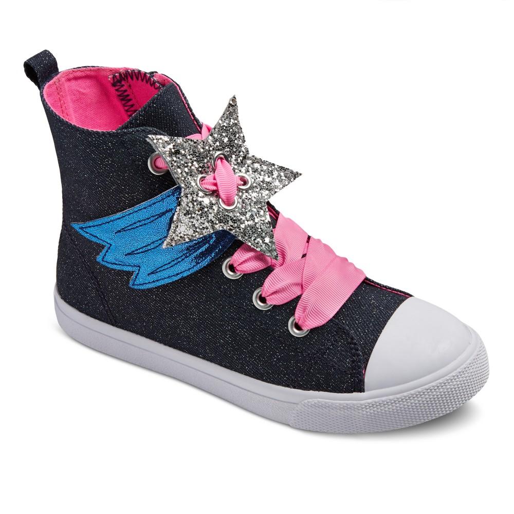 Girls Gloria Sneakers Cat & Jack - Navy 5, Blue