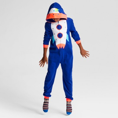 Boys' Long Sleeve Rocket Union Suit Pajama - Cat & Jack™ Blue S