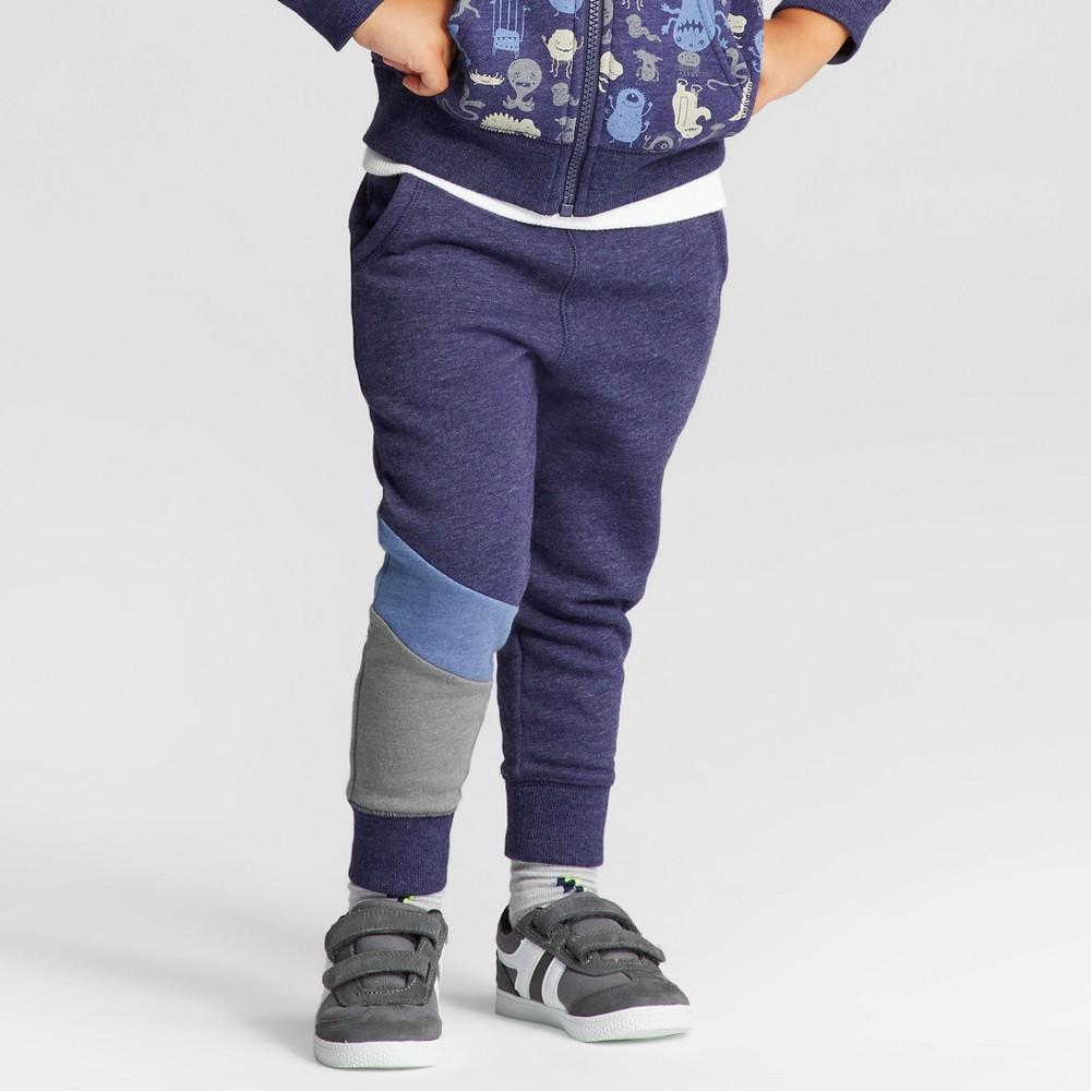 Toddler Boys Lounge Pants Cat & Jack Navy 18M, Size: 18 M, Blue
