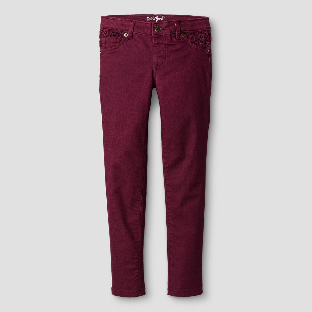 Girls Jeans - Cat & Jack Dark Red 6X Slim