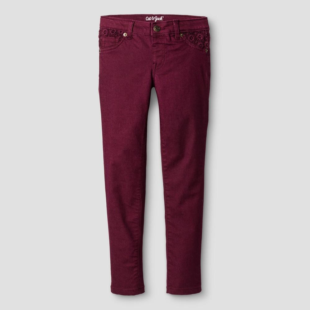 Girls Jeans - Cat & Jack Dark Red 7 Slim