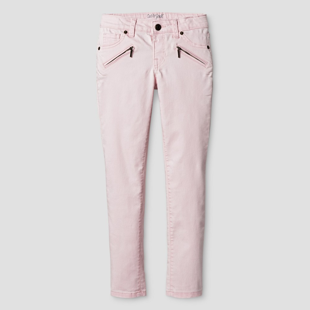 Girls Jeans - Cat & Jack Cherry Cream 8, Pink