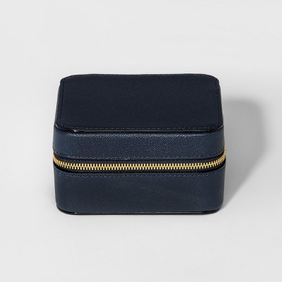 Women's Zip Around Medium Jewelry Box - Merona™ Navy