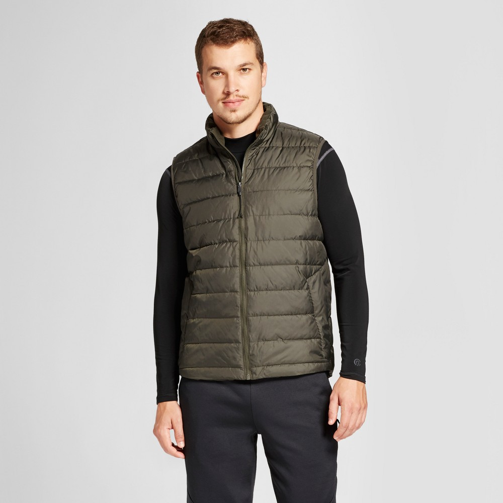 Mens Lightweight Puffer Vest - C9 Champion Olive (Green) XL