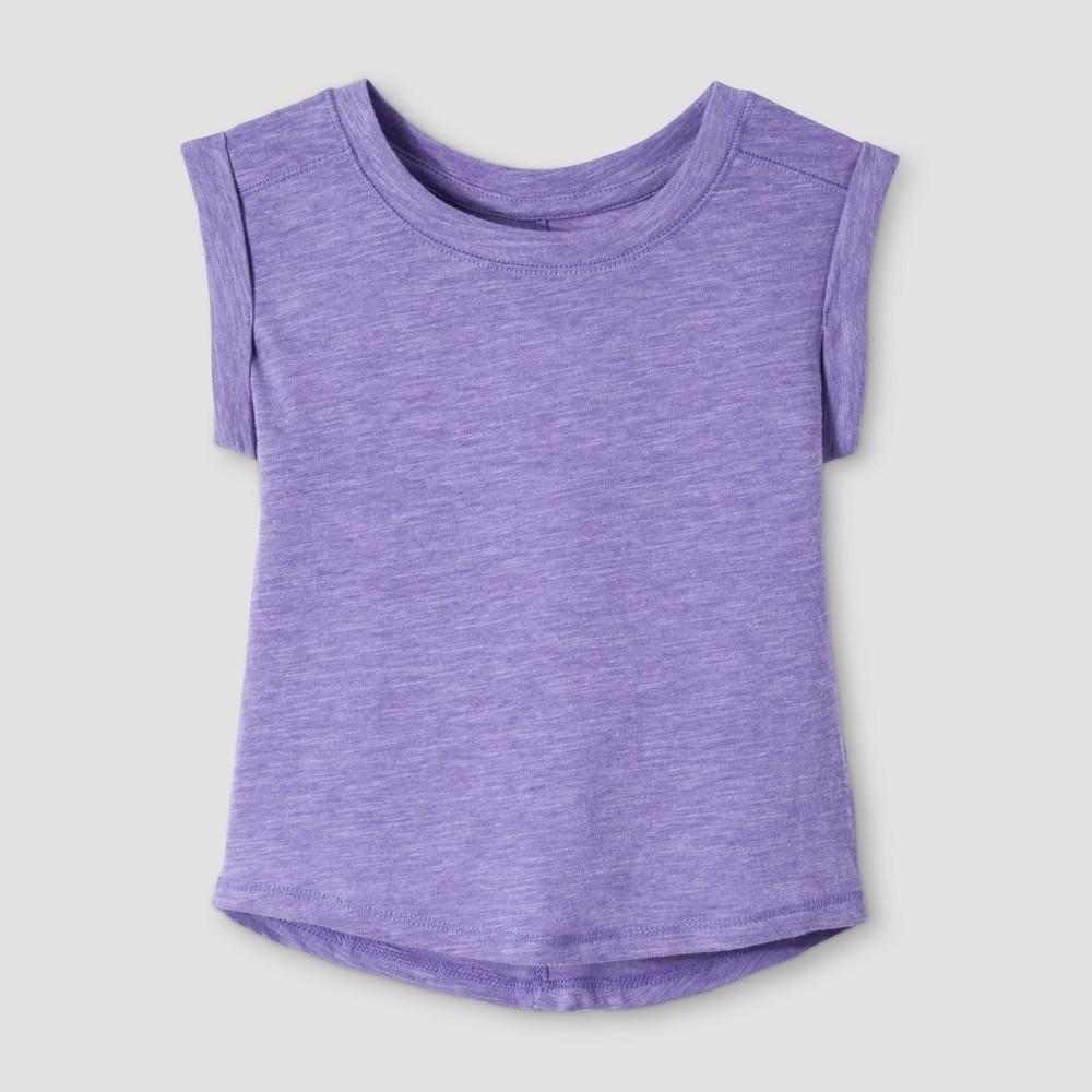 Toddler Girls Basic Sleeve T-Shirt - Cat & Jack Verily Iris 2T, Purple