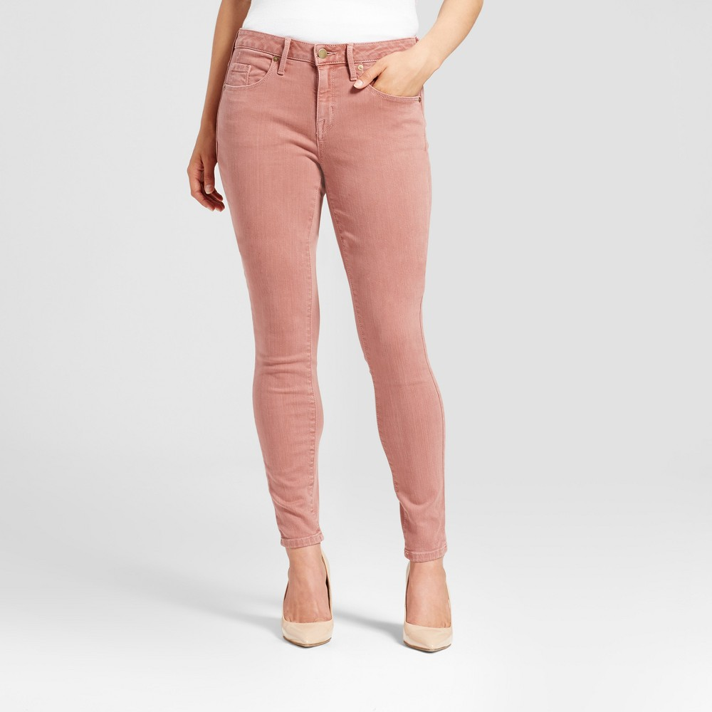 Womens Jeans Curvy Skinny - Mossimo Pink 00L, Size: 00 Long