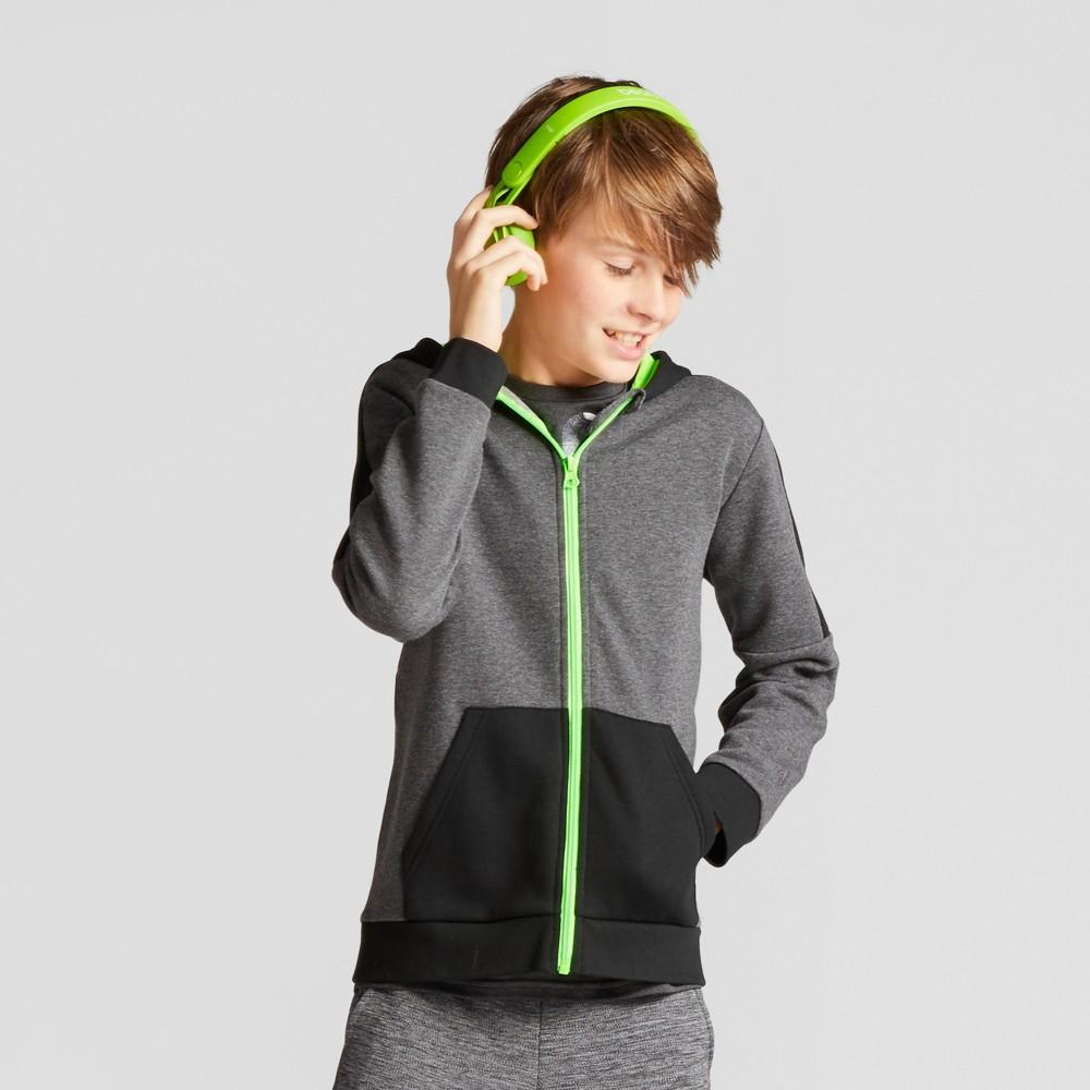 Boys Cotton Fleece Full Zip Hoodie - C9 Champion Charcoal Heather M