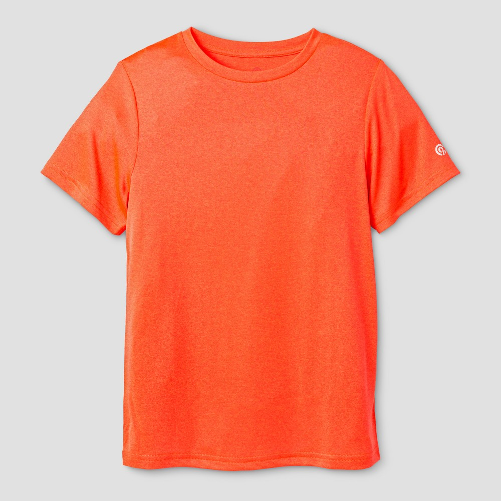 Boys Tech T-Shirt - C9 Champion Orange Glow Heather L