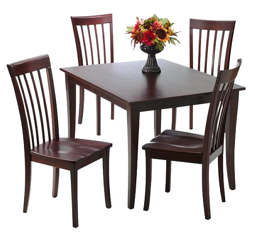 5 piece dolce solid wood dining set - brown : target