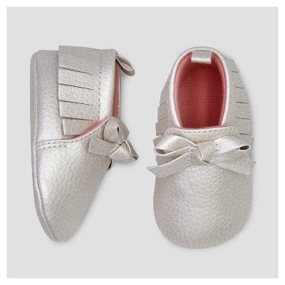 Baby Girls' Moccasin with Bow - Just One You™ Made by Carter's® Gray 1
