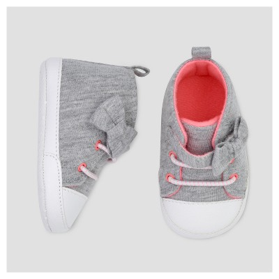 Baby Girls' Bow Hightop - Just One You™ Made by Carter's® Gray 1