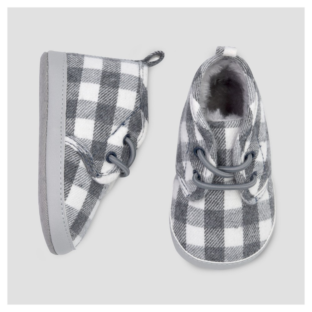 Baby Boys Desert Plaid Boot - Just One You Made by Carters Gray 1