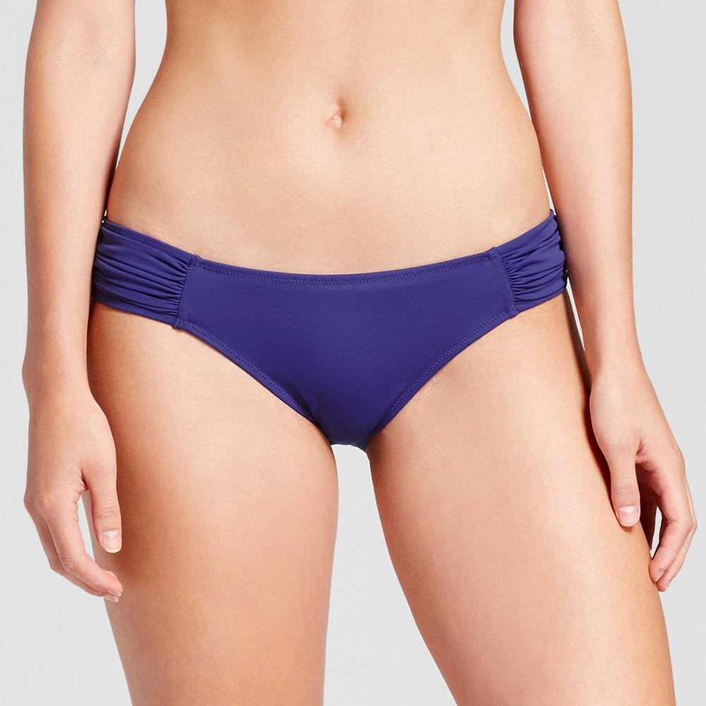 Womens Beach Tab Hipster Bikini Bottom - Shade & Shore Indigo/Blush XS, Blue