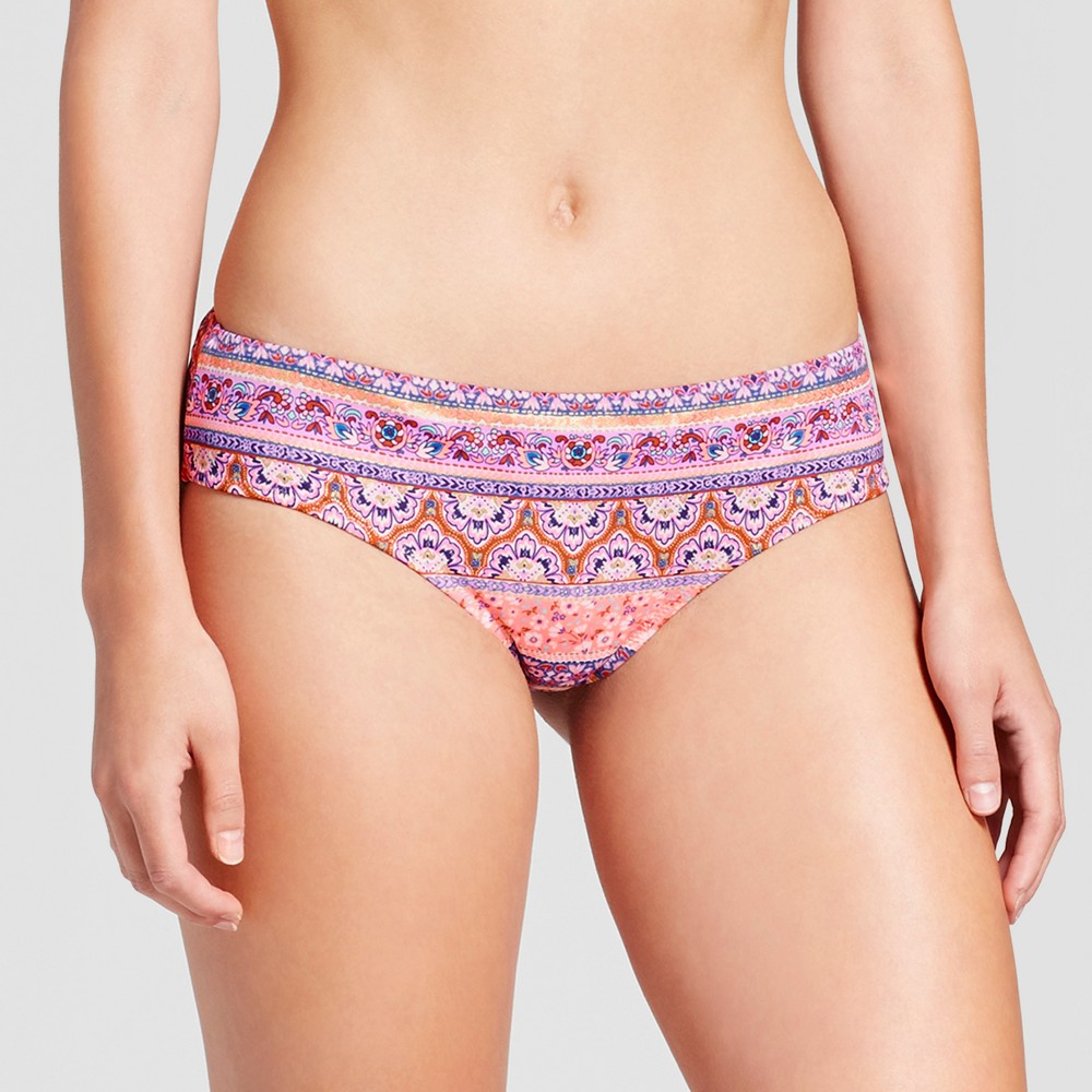 Womens Sun Coast Cheeky Bikini Bottom - Shade & Shore Multi Print M, Multicolored