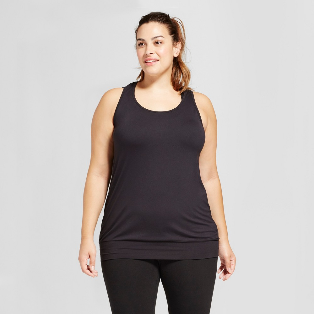 Womens Plus-Size Banded Bottom Tank Top - C9 Champion - Black 1X