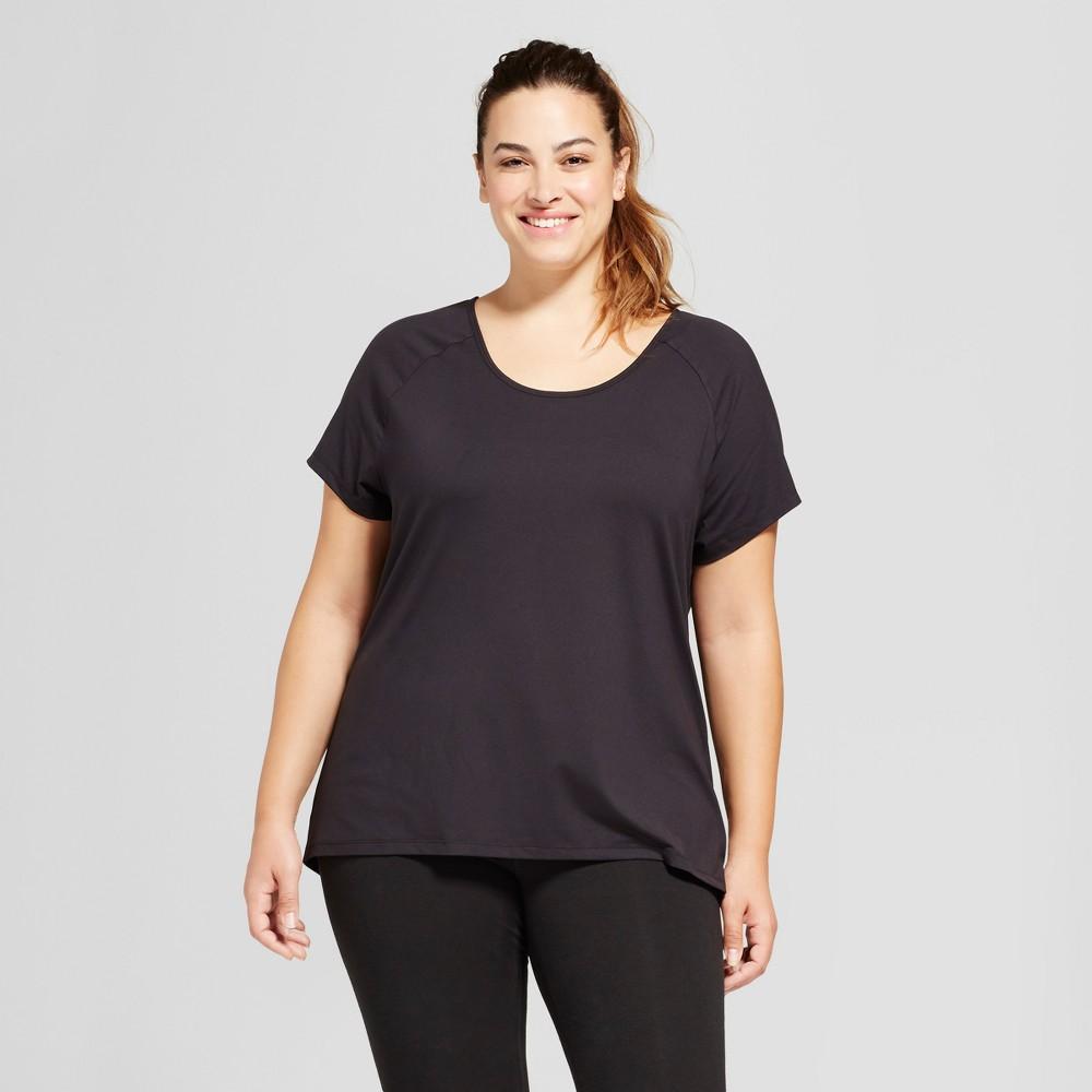 Womens Plus-Size Performance Strappy Back T-Shirt - C9 Champion - Black 3X