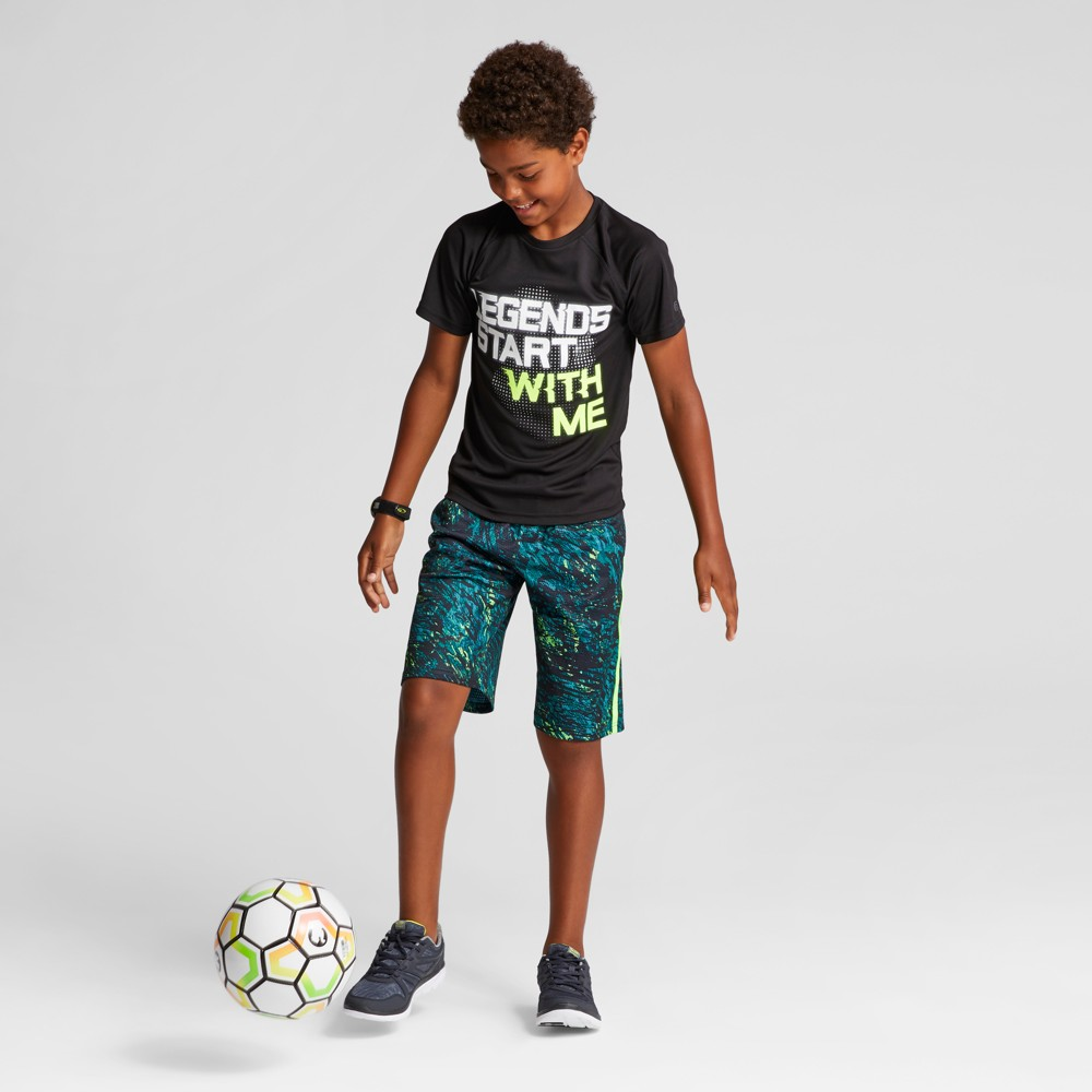 Boys Graphic Tech T-Shirt - C9 Champion Black S Legends Start With Me