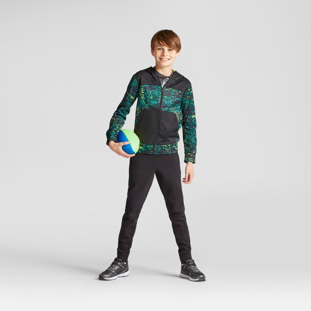 Boys Printed Tech Fleece Full Zip Hoodie - C9 Champion Green S
