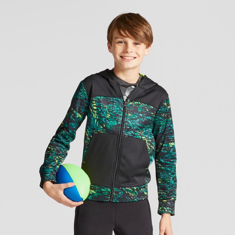 Boys Printed Tech Fleece Full Zip Hoodie - C9 Champion Green XL