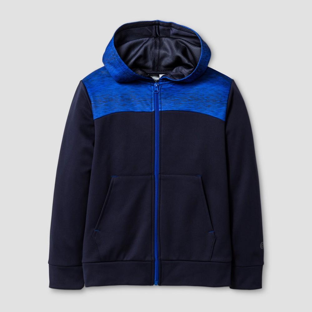 Boys Printed Tech Fleece Full Zip Hoodie - C9 Champion Navy (Blue) S