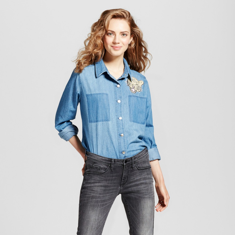 Womens Light Weight Denim Top - Mossimo Supply Co. Blue L