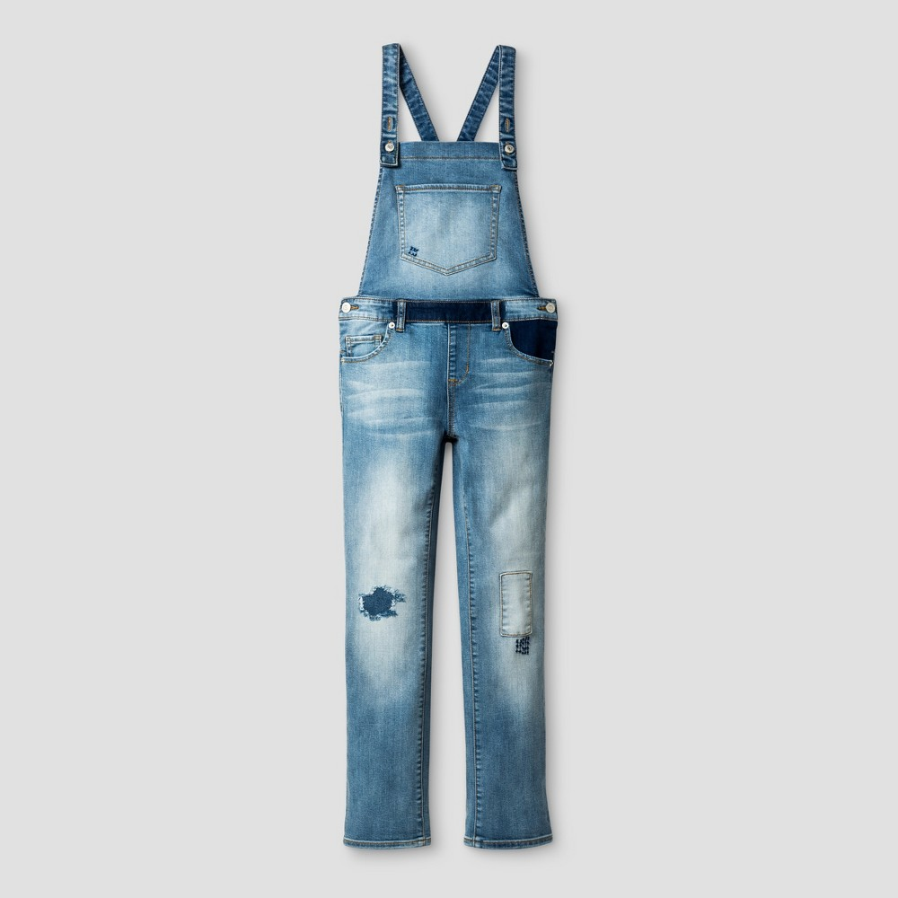 Girls Skinny Jeans Overalls - Cat & Jack Light Blue M