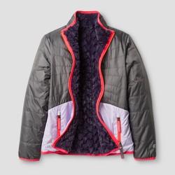 Girls' Reversible Puffer Jacket C9 Champion®  - Gray