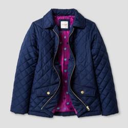 Girls' Lightweight Quilted Jacket - Cat & Jack™ Navy