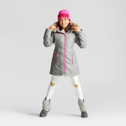 Girls' Parka With Faux Fur Hood - Cat & Jack™ Gray
