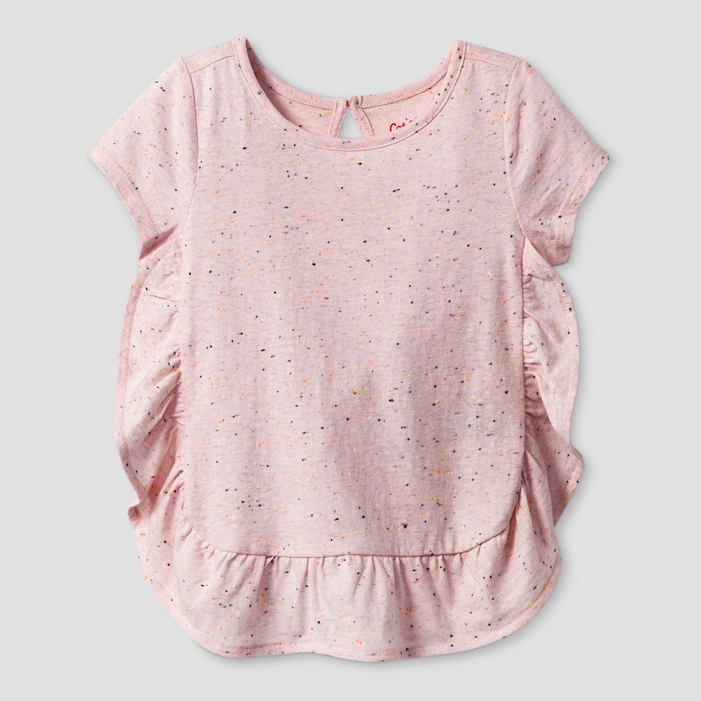 Toddler Girls Short Sleeve T-Shirt - Cat & Jack Cherry Cream 4T, Pink
