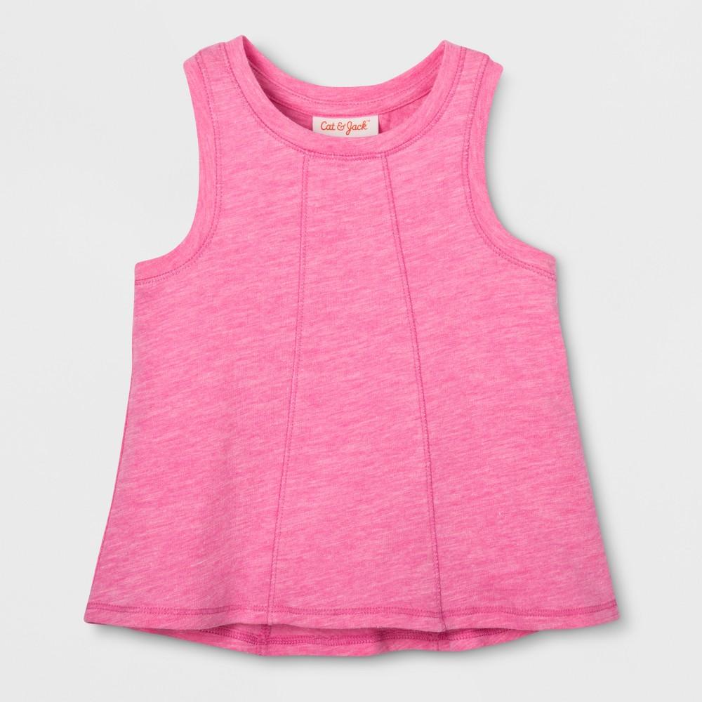 Toddler Girls Sleeveless Tank Top - Cat & Jack Pizzazz Pink 5T