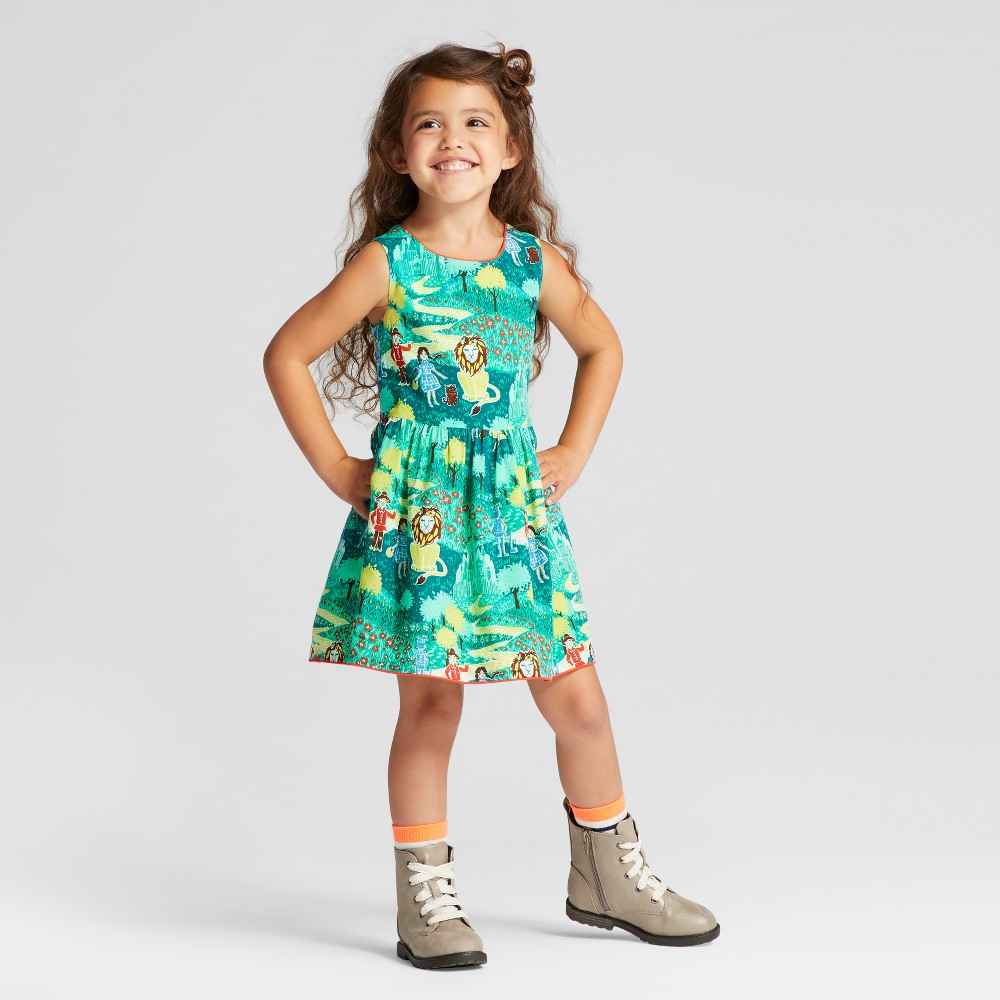 Toddler Girls OZ A Line Dress - Genuine Kids from OshKosh English Teal 2T, Blue