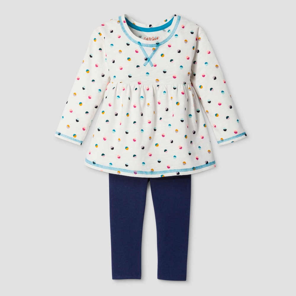 Toddler Girls Top And Bottom Set Cat & Jack - Almond Cream 5T, White
