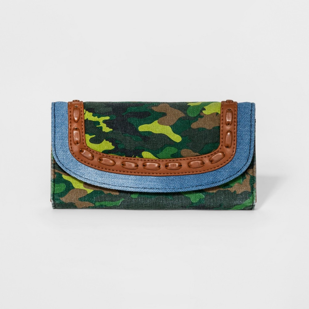 Womens Washed Print Wallet - Mossimo Supply Co. Green Camouflage Print