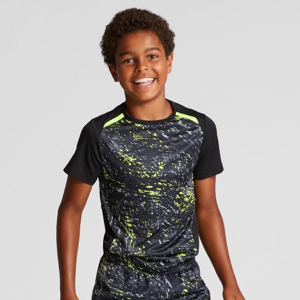 Boys Printed Novelty Tech T-Shirt - C9 Champion Yellow Ripple Camo S