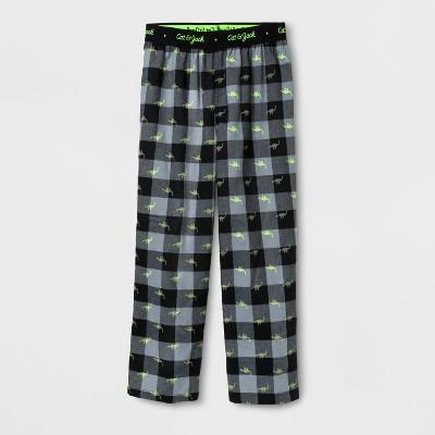 Boys' Dino Plaid Pajama Pants - Cat & Jack™ Black XL