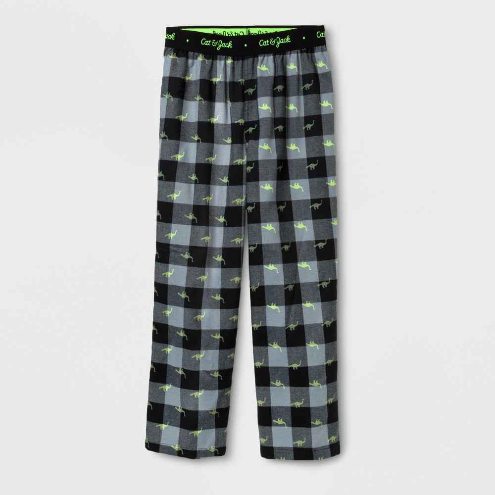 Boys Dino Plaid Pajama Pants - Cat & Jack Black XL