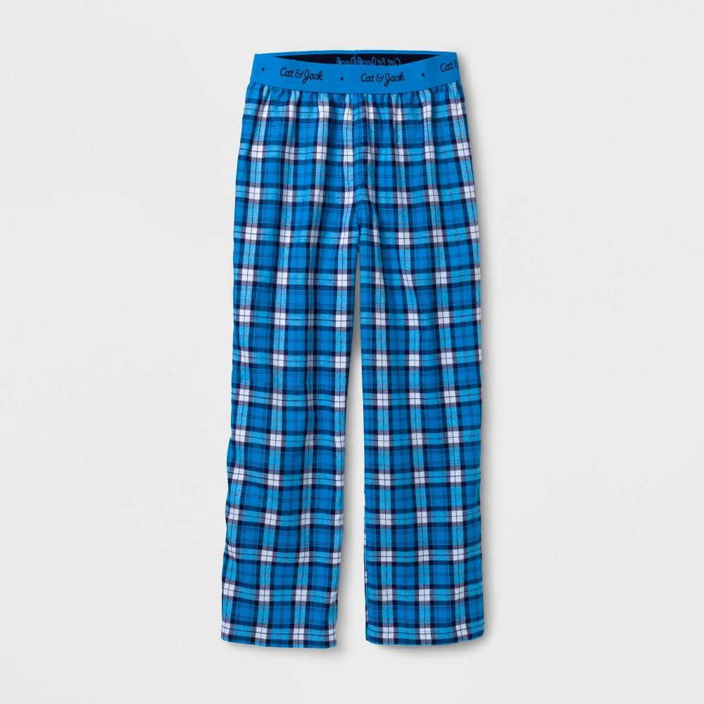 Boys Pajama Pants - Cat & Jack Blue Plaid XS