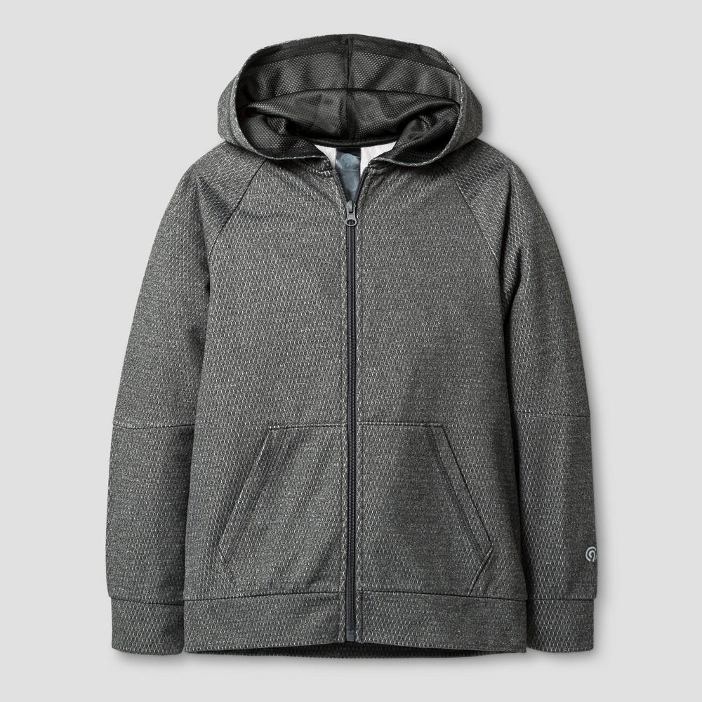 Boys' Textured Tech Fleece Full Zip Hoodie - C9 Champion Heather Gray S