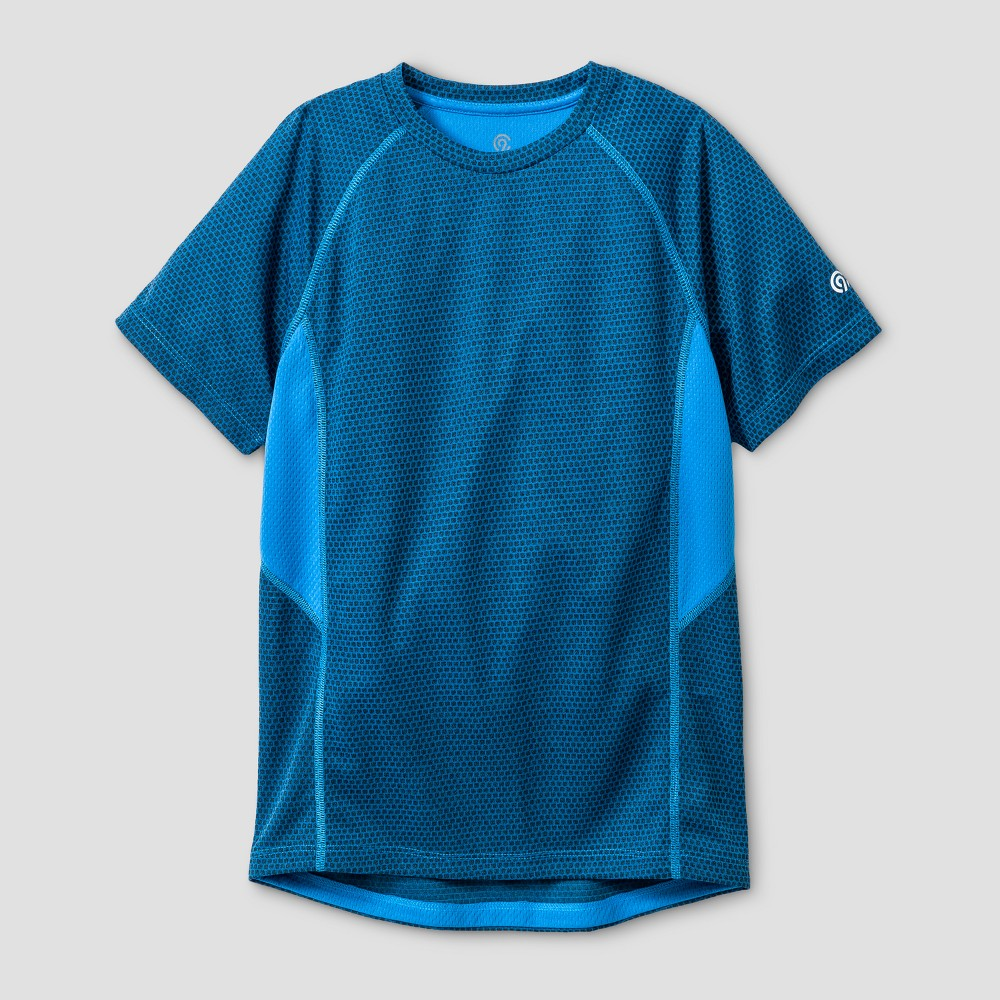 Boys Novelty Tech T-Shirt - C9 Champion Polar Sky Blue Heather XS, Heather Blue