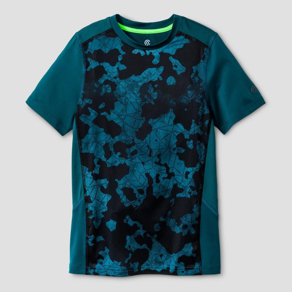 Boys Novelty Compression T-Shirt - C9 Champion Green M