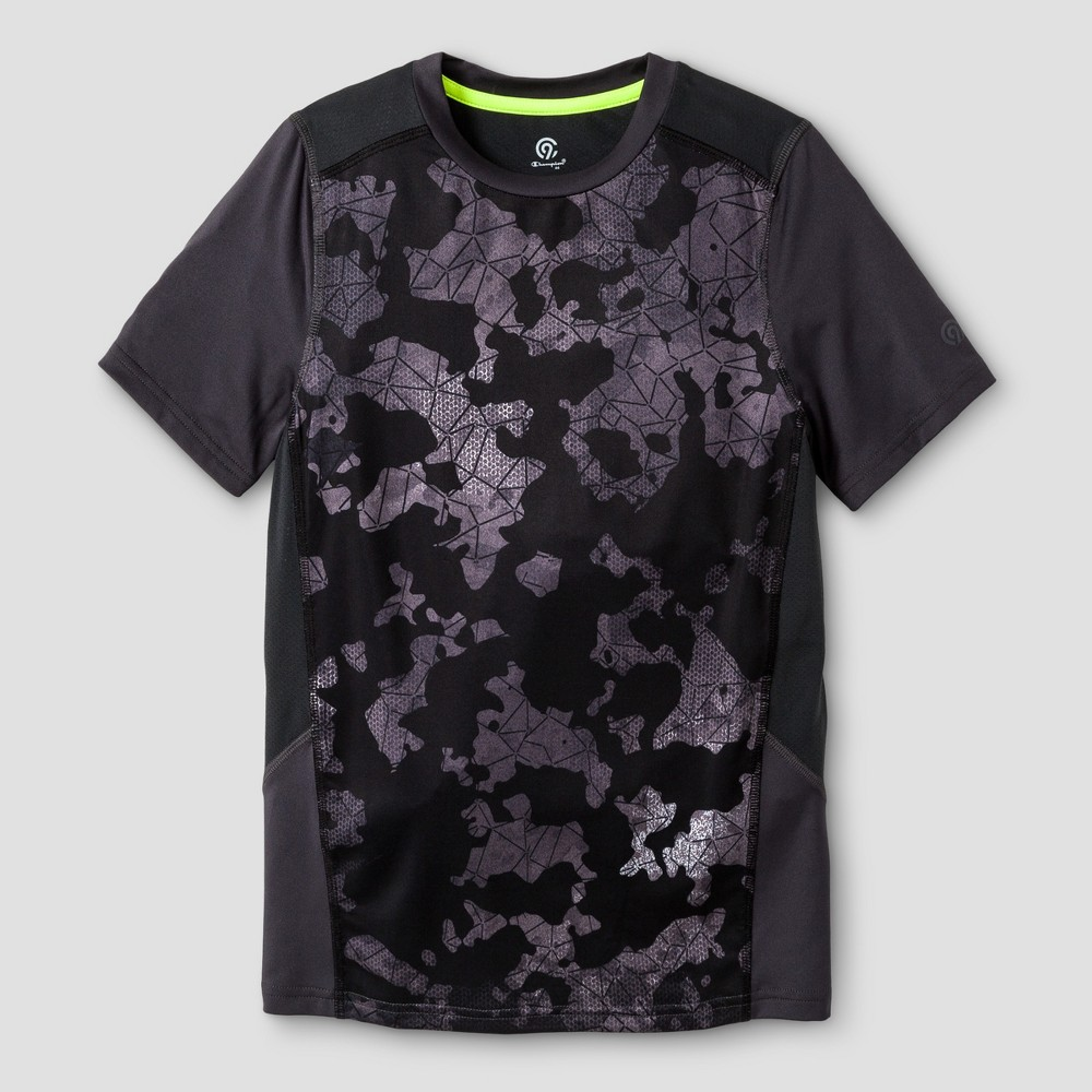 Boys Novelty Compression T-Shirt - C9 Champion Black Camo M