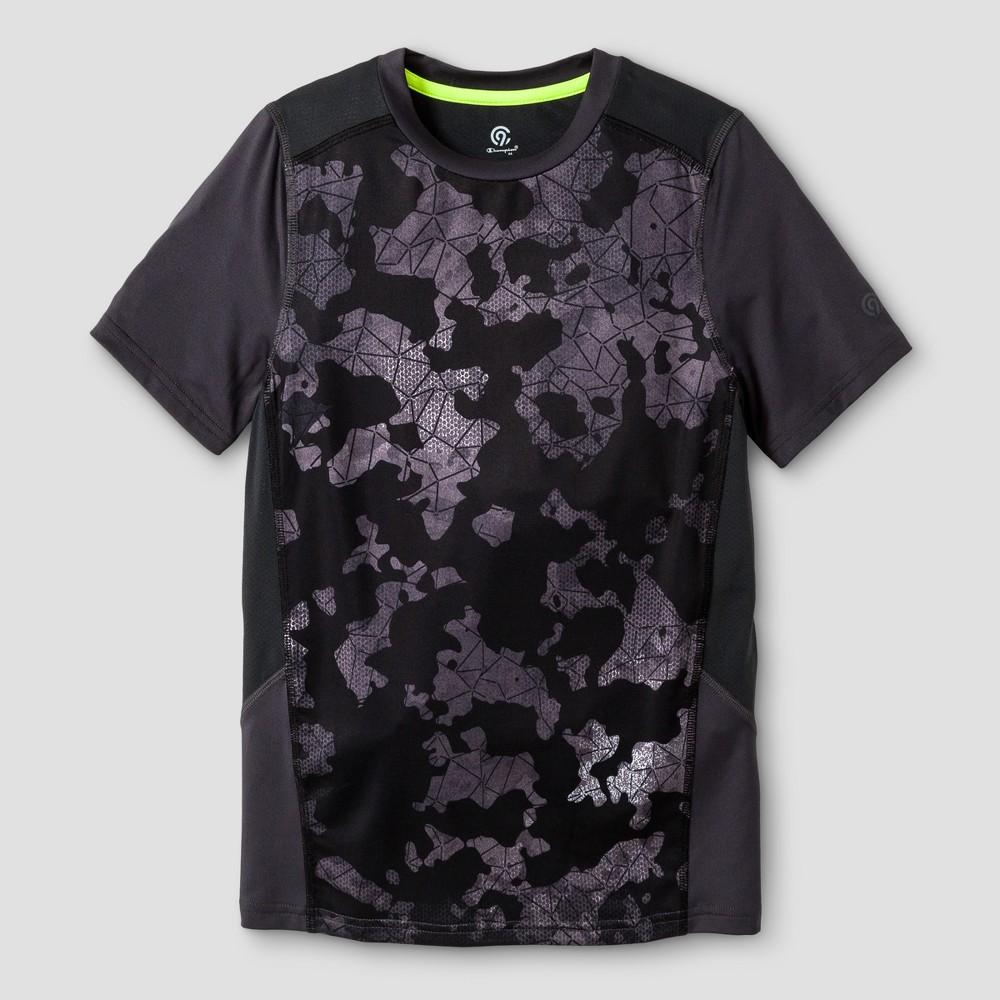 Boys Novelty Compression T-Shirt - C9 Champion Black Camo XL